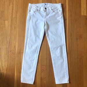 PAIGE White Denim Skyline Ankle Peg Skinny Jeans